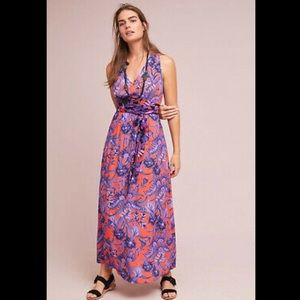 Anthropologie Maeve Macie Floral Maxi Dress Size 4